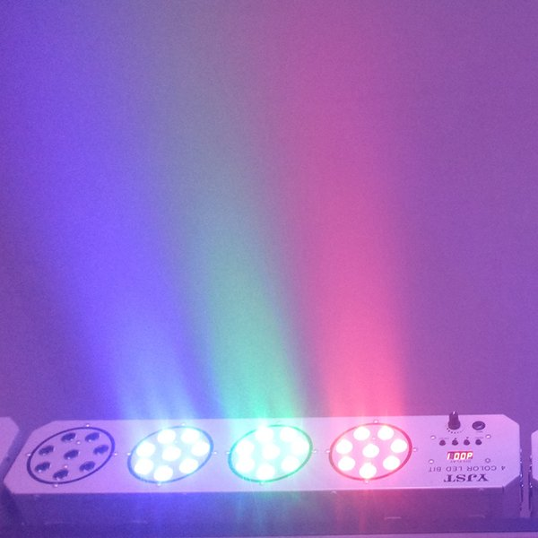 .Big Led stage light 34x1W 64W 85-265V High Power 4 head Par Lighting With DMX 512 Master Slave Led Flat DJ Auto-Controller