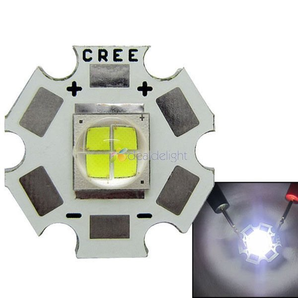 Wholesale- Cree Lamp MKR MK-R LED 6000K 15W White LED Bulb Light with 20mm Board Up to 1769LM Free Shipping