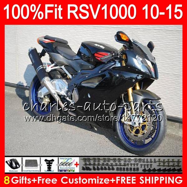 Injection For Aprilia RSV1000 R Mille RSV1000 10 11 12 13 14 15 Stock black 77NO17 RSV 1000R RSV1000R 2010 2011 2012 2013 2014 2015 Fairing