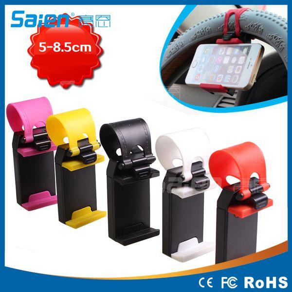 Car Steering Wheel Hand Carriage Car Steering Wheel Navigation Mount Car Phone Holder 5-8.5cm Free Shipping