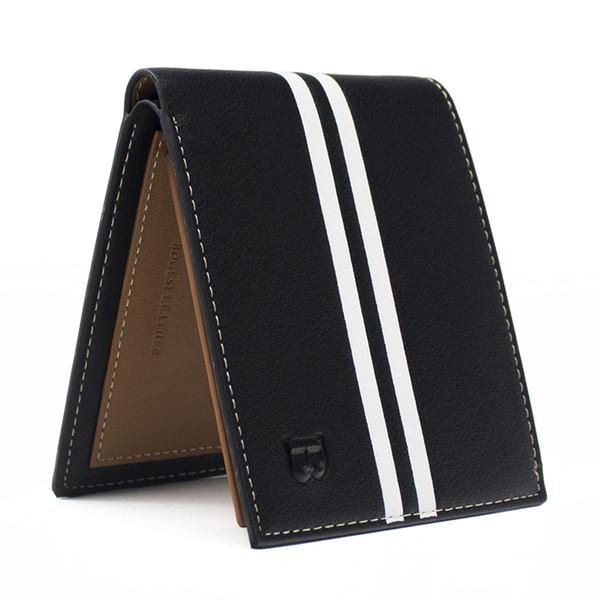 13ba04404e24 Wholesale- DERI CUZDAN HOT Fashion Brand Wallet Men Leather Mens Wallet  Male Purse Short Card Holder Designer Wallet Black Vallet for Men