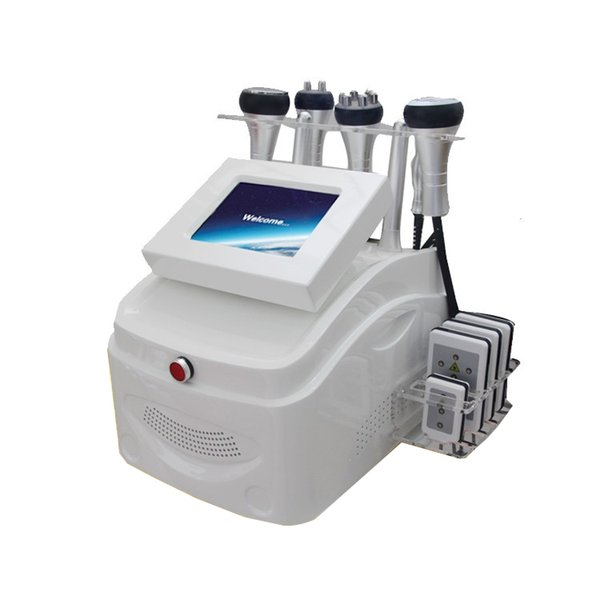 6 IN 1 650nm Lipolaser Slimming Machine 8 Pads Lipo Laser 40K Ultrasonic Cavitation Tripolar RF Fourpolar RF Sixpolar RF Vacuum Cavitation