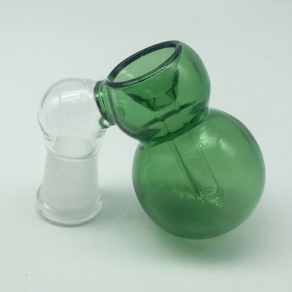 Glass Ash Catcher Bowls Male Female 14mm 18mm Joint Blue/Green colors Glass Ash Catcher for Oil Rigs Glass Bongs DHL Free shipping