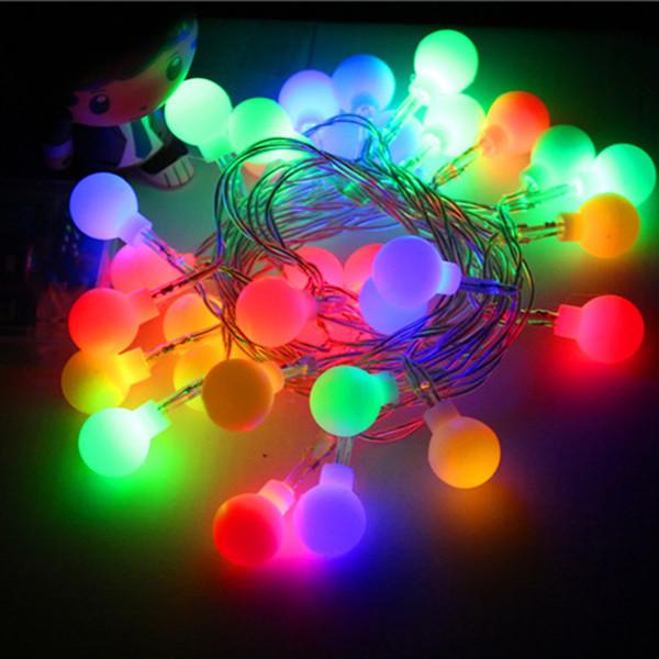 Wholesale-2016 5 M40 bulbs Outdoor Lighting LED Christmas xmas Ball String Lamps Christmas Wedding Garden Patio Battery R053