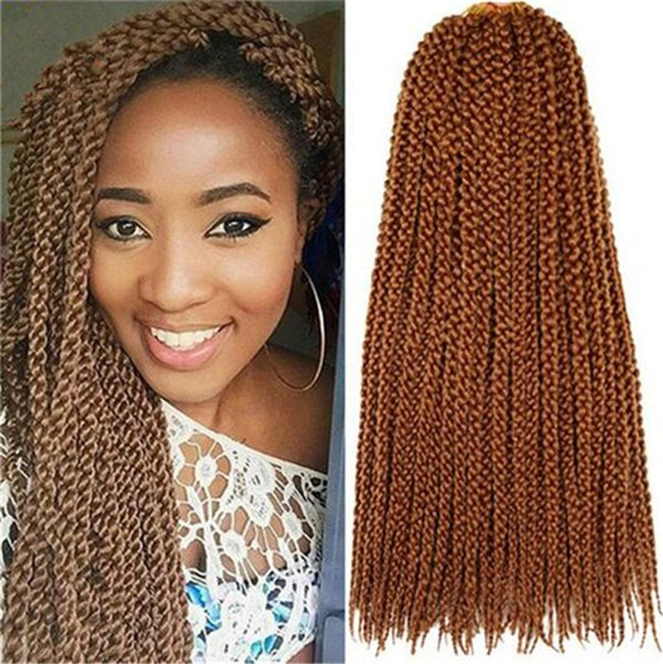 top popular Free Shipping HIGH QUALITY 3D Cubic Twist Crochet Braids Blonde Color Mambo Senegalese Twist synthetic hair Hair Extensions 2020