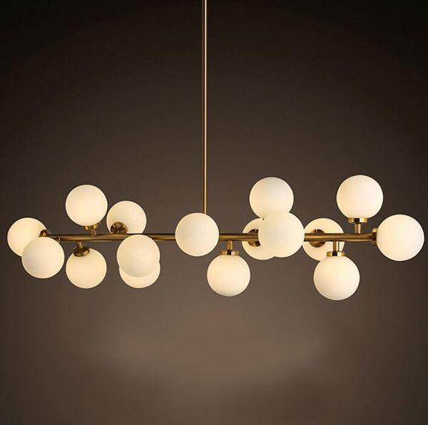 Vintage Loft Industrial pendant lamp black Gold Bar Stair hanging light Dining Glass ball Retro Lindsey glass LOFT gold chandelier