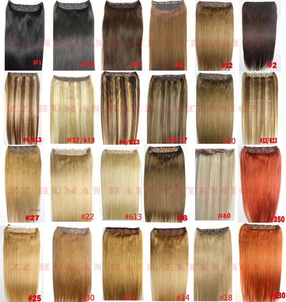 "top popular ZZHAIR 16""-32"" 100% Brazilian Remy Human hair Clips in on Human Hair Extension 1pcs set 80g 100g 120g 140g 160g 180g 200g 2019"