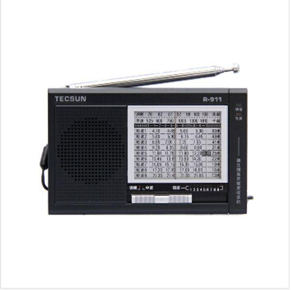 Wholesale-Voque and Nice Full Brand TECSUN R-911 FM/MW/SW Compact Multi Bands fm portable radio for bathroom tecsun radio receiver