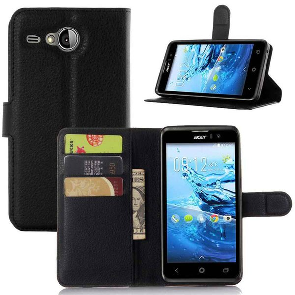 Luxury Fundas For Acer Liquid Z520 Phone Case With Stand Wallet Leather Flip Cover Bags Skin Cases For Acer Z520