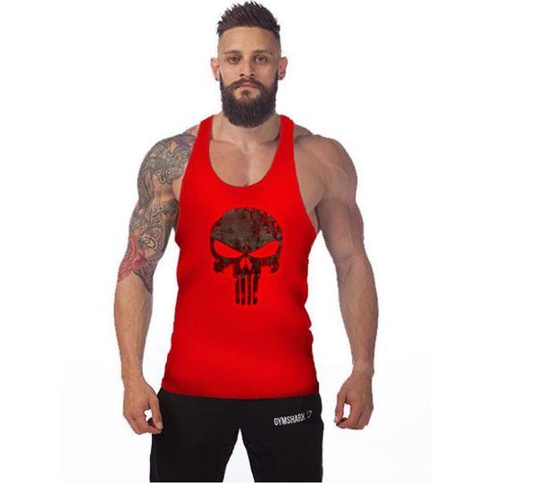 City mens t-shirt tops tees fitness hip hop men cotton tshirts homme camisetas t shirt brand clothing Sports vest ghost