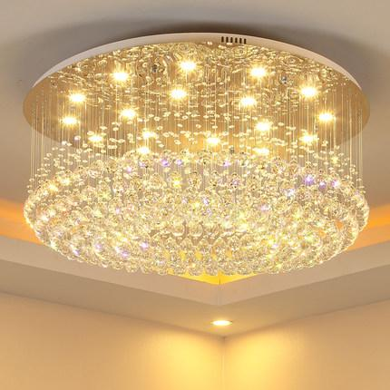 Chandelier led lights crystal modern simple creative elegant round shape chandeliers pendant ceiling lighting fixture chandeliers lamp
