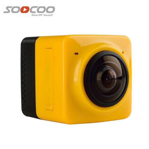 Toptan-Yeni Varış Küp e 360 Spor Video Kamera WIFI H.264 360 Derece Panorama Kamera 360x190 Büyük Panoramik Atış Spor Kamera