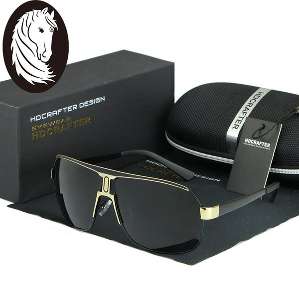 Wholesale- Aluminum Magnesium Men's Polarized Sunglasses Men Sports Coating Mirror Sun Glasses Driving Outdoor Polaroid Glass Male Eyewear