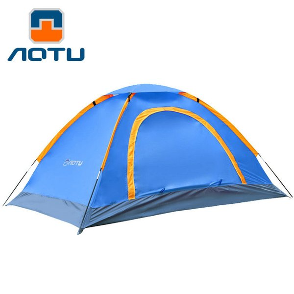AOTU Waterproof Outdoor Hiking Tent 1-2 Person Double-door Caulking Beach Tent Pack with Carrying Bag for Outdoor Camping 172