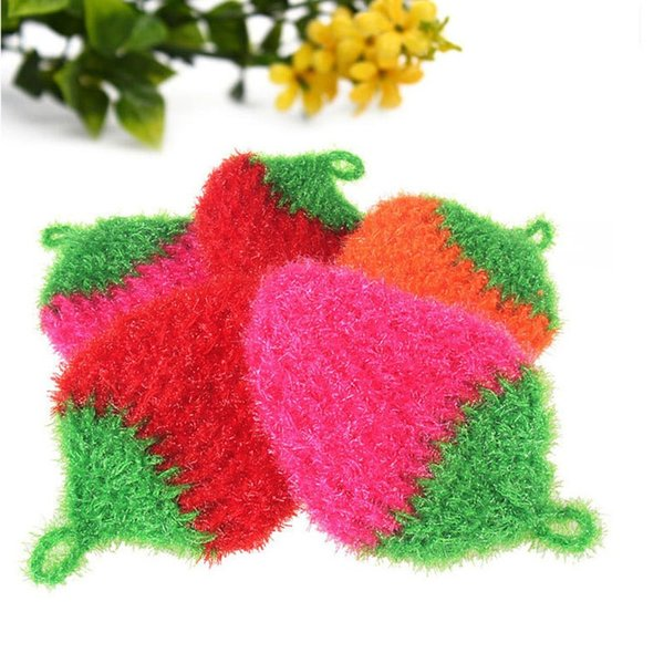 Hand Crochet Korea Yarn Square Dish Cloth Kitchen Plate Bowl Washing Cleaning Brush Free Shipping ZA3754