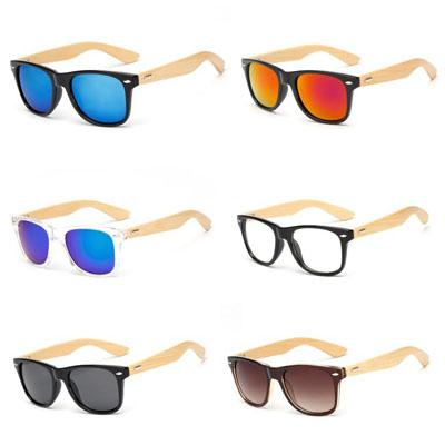 Hot Sale Wood Sunglasses Natural Bamboo Wooden Eyewear Designer Men Women Classic Sun Glasses Logo Available Plastic Frame Cheap