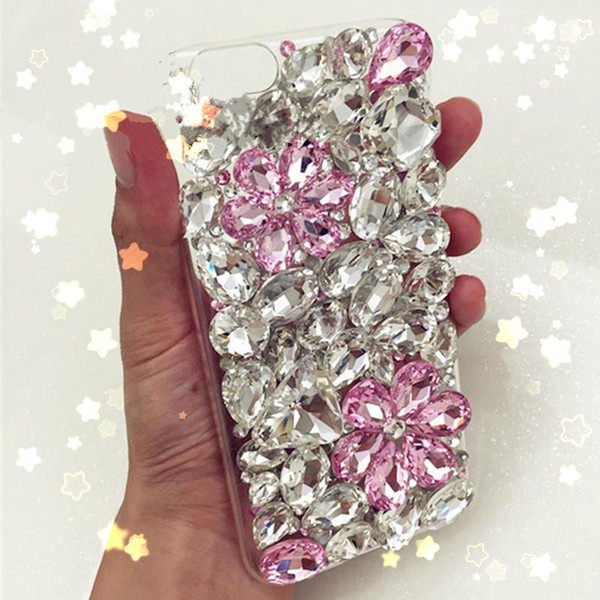 for Samsung galaxy g530 j3 j5 j7 a3 a5 a7 2016 grand prime Luxury Diamond water-drop black flower soft case cover