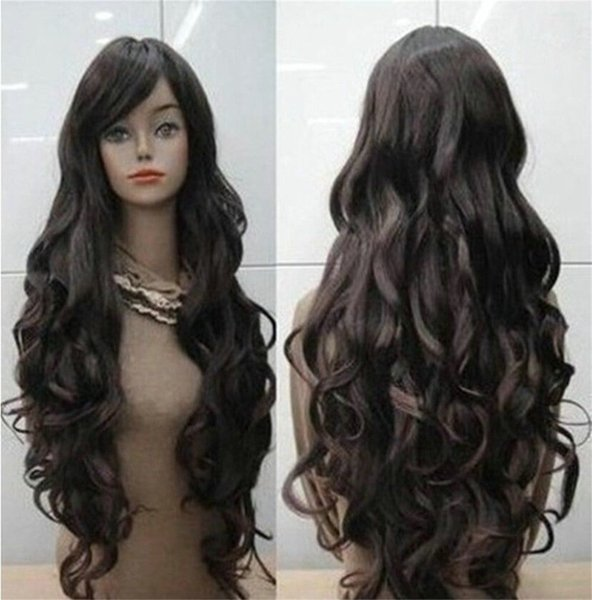 African american 180 density loose curly virgin brazilian hair lace front wigs with bang