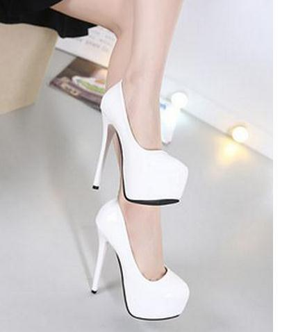 The new 2016 fine with ultra-high paint round head with shallow mouth woman shoes FuRuiSource