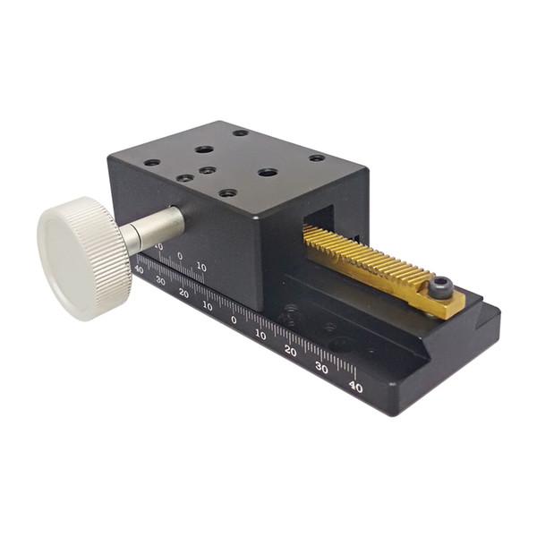 PT-SD112 Eje lineal X Etapa lineal, Estación de desplazamiento manual, Plataforma manual, Mesa deslizante óptica, Viaje de 80 mm