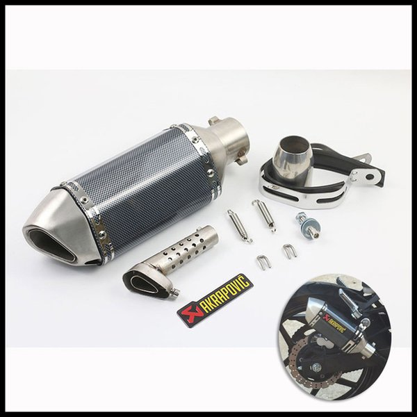 38-51 mm Universal Motorcycle Pipe Exhaust Silencer Slip On With Removable DB Killer for CBR125 cb600 fz400