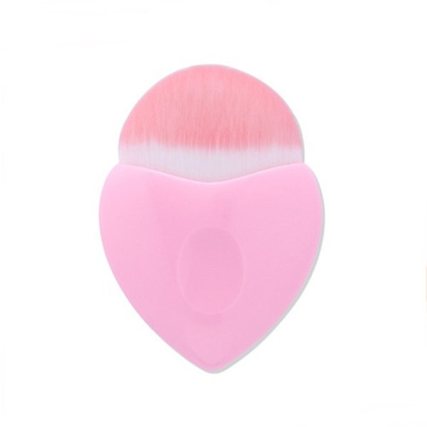 New Pink Heart-Shaped Makeup Brushes Powder Blush Foundation Cosmetic Makeup brush Tool cute heart Contour BB Cream Face make up Brush Tool