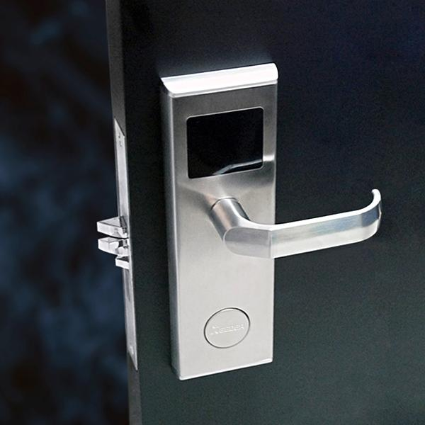 best selling Stainless Steel MF Card Contactless Lock Electronic Lock Hotel Door Lock with DND and Panic Release Free Software