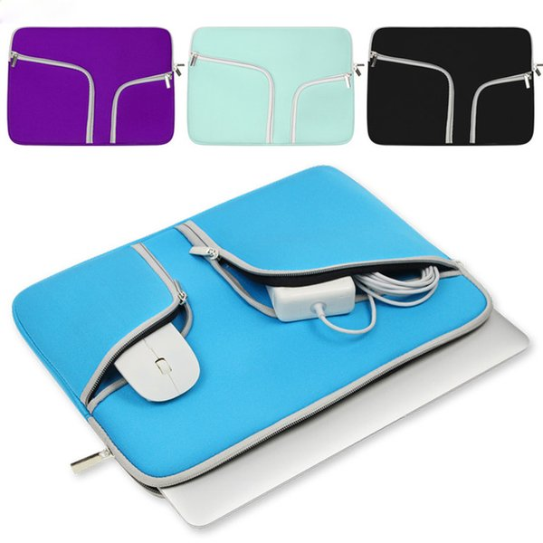 Double mouth Laptop bag Sleeve Cover Case For Macbook Pro Air Retina 11 13 15 Mac book 13.3 inch