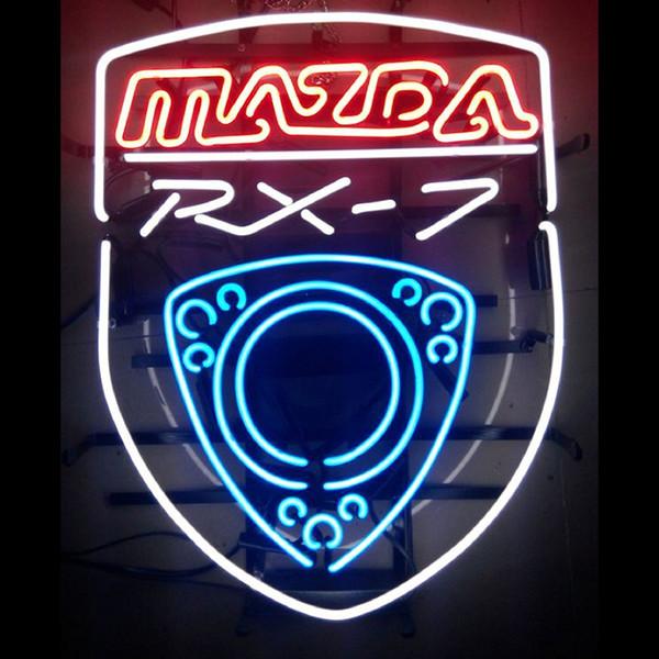 Nueva Handcraft MAZDA RX 7 tubos de vidrio real Beer Bar Pub muestra de neón 19x15 !!! La mejor oferta!