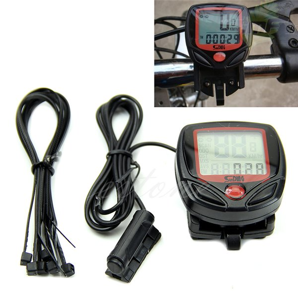 New Bicycle MTB Waterproof Digital LCD Display Computer Cycle Bicycle Bike Speedometer Odometer