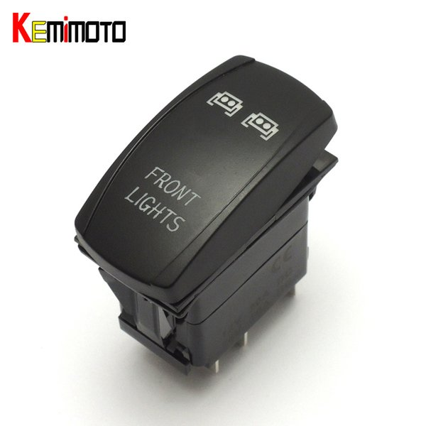 top popular Wholesale- KEMiMOTO For POLARIS RZR XP1000 XP900 800 RZR4 Ranger Blue Front LED Light Bar Switch for John Deere Gator XUV for Hisun UTVs 2019