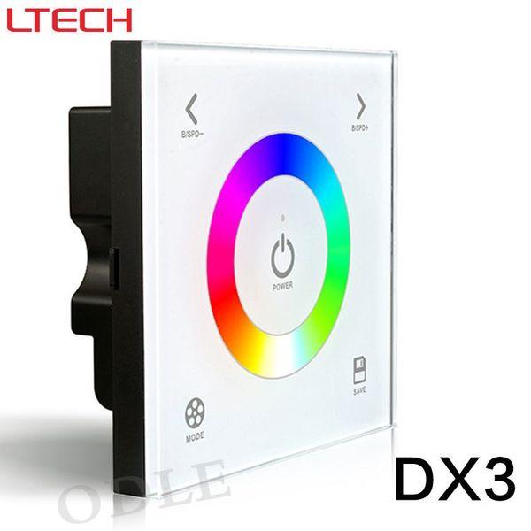 New Touch Led DMX Rgb Controller 100-240V 86 Glass Panel DMX512 DX3 Led RGB DMX512 Free Shipping