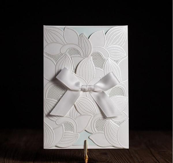 Compre Tarjetas De Invitaciones De Boda De Marfil Vendedoras Personalizadas Tarjetas De Invitación De Boda Blancas Con Los Diseños Más Nuevos Envío
