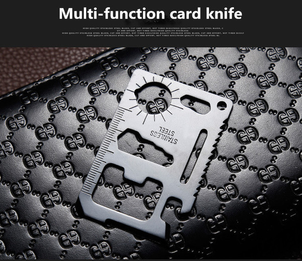 top popular Multi Tools 11 in 1 Multi-function Survival Camping Pocket Military Credit Card Knife for Outdoor Hunting 2021