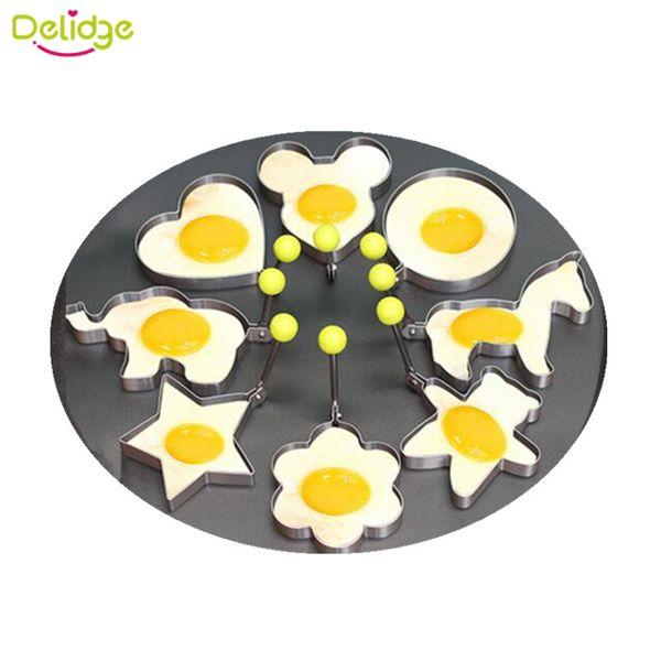 1 pc Animal Shape Egg Mold Stainless Steel Fried Egg Pancake Ring Bird Heart Bear Apple Elephant Horse Shape Egg Mould