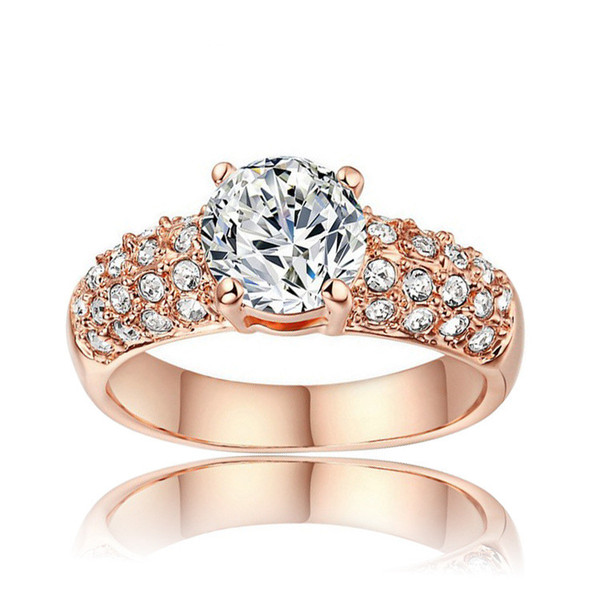best selling Brand Wedding Rings For Women Silver Gold Filled Luxury Diamond Zircon Engagement Rings Jewelry Accessories Gift