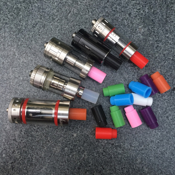Puntali antigoccia monouso per vaporizzatore 510 Coperchio per bocchino in silicone Punta per test in gomma Punta per gocciolamento in silicone Per test di adattamento Sottotank Mini