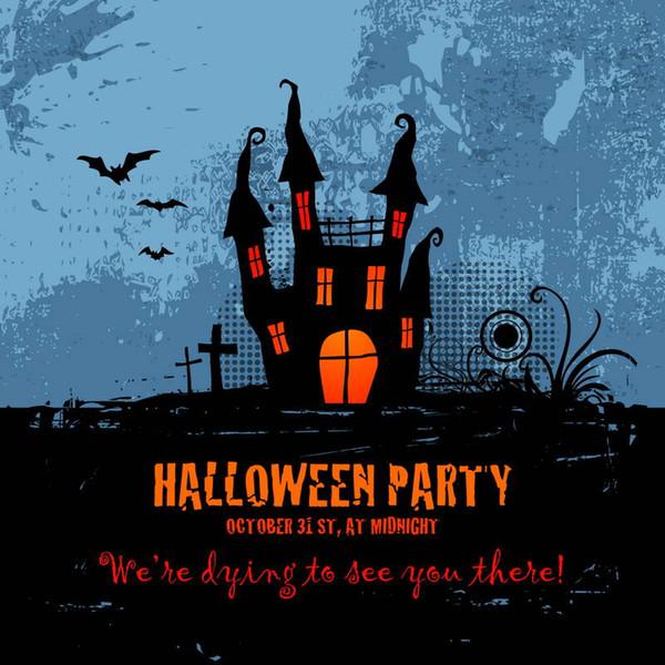 5x7ft Vinyl Digital Halloween Party Grave Photography Studio Backdrop Background