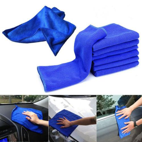 top popular Microfibre Cleaning Auto Car Detailing Soft Cloths Wash Towel Duster 30x30 2019