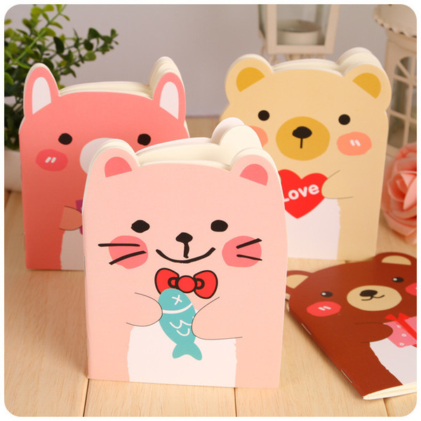 Mini Bear Notebook Portable Office Supplies Creative Stationery Four Color Selection Cartoon Notepad Available Hot Sell 0 33xf F R