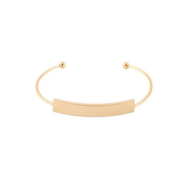 Wholesale bar Cuff Bracelet Manchette Gold color Bangle Bracelet For Women Bracelets Bangles Pulseiras jl-465