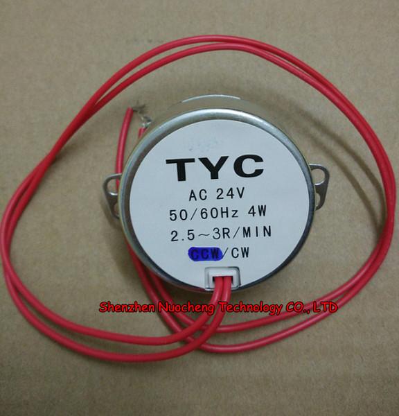 best selling TYC-50 Synchronous motor AC 24V 4W permanent magnet fan motor 2.5-3r min shaft dianeter 7mm ~