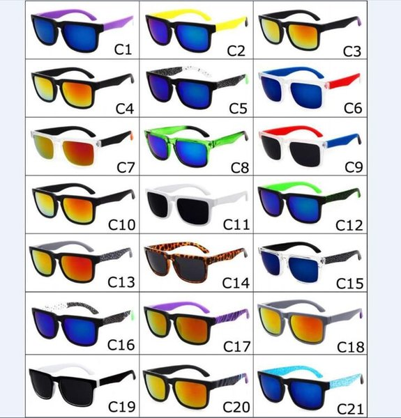 top popular 21 Colors Unisex Brand Designer Spied Ken Block Helm Sunglasses Fashion Sports Sunglasses Oculos De Sol Sun Glasses Eyeswear DHL free 2019
