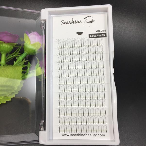 1 tray 8-15mm 2D volume fans lash C D curl individual eyelash false eyelash extension handmade top quality