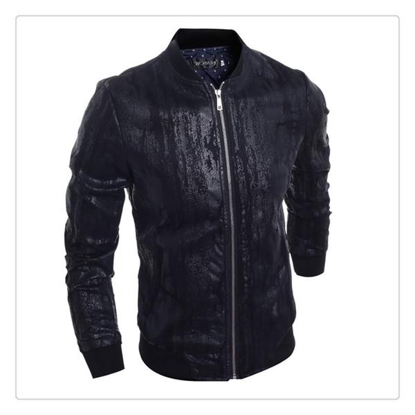 444e336de16 Chaquetas de cuero para las chaquetas de cuero formales del caballero de  los hombres de Collar