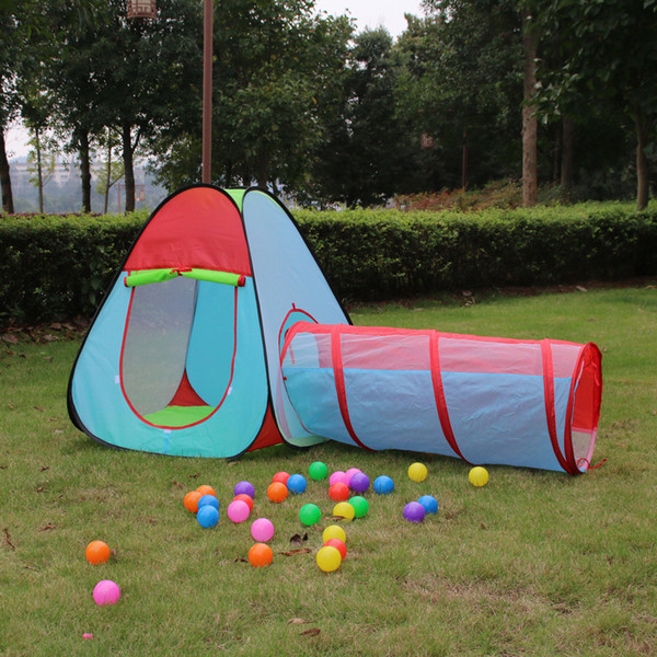 3 In1 Portable Kids Children Toy Tent Playhouse Indoor Outdoor Foldable Pop Up Tent Tunnel Set & 3 In1 Portable Kids Children Toy Tent Playhouse Indoor Outdoor ...