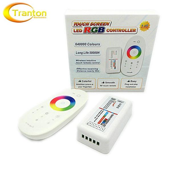 Control remoto de 2.4G RGB LED 3 canales 18A DC12-24V Control remoto de pantalla táctil para tira de LED RGB.
