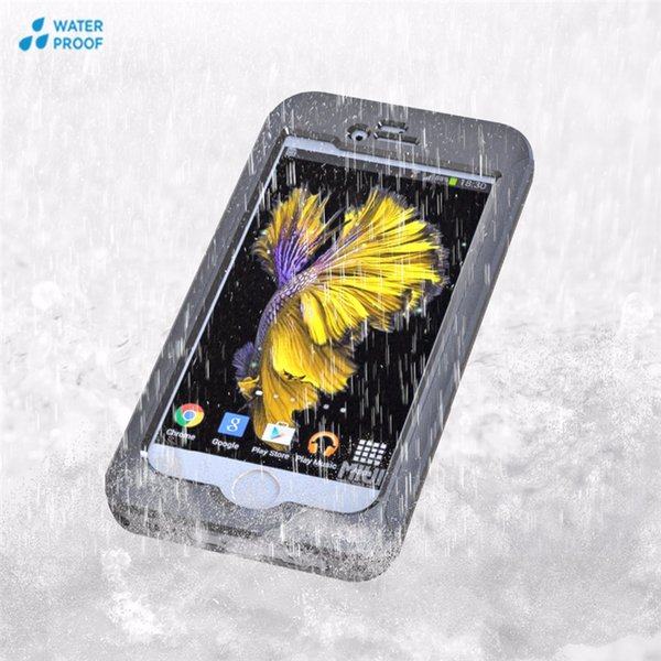 For IPhone 6 6S 7 Plus Waterproof Shockproof Armor Case With Available Buttons Touch ID Rugged Protection Film for Samsung S7 S6 Edge