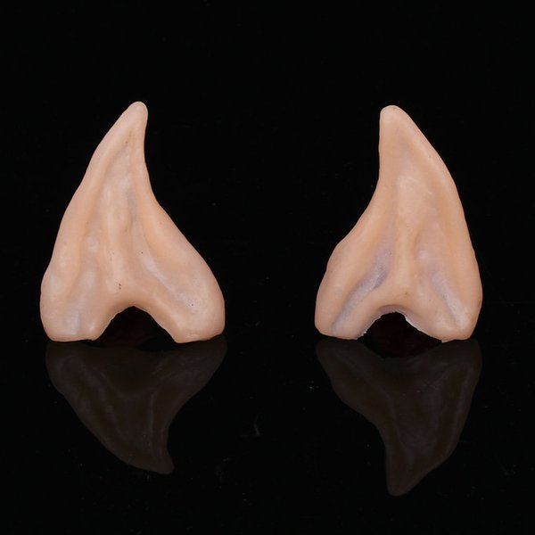 Hot Selling Halloween/Christmas make-up dance props simulation ears For Boy Girl Cosplay Long Wizard Ears Toys