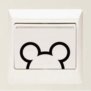 Micky 4pcs a set switch laptop cup family Wall stickers decoration decor home decals fashion waterproof bedroom living sofa